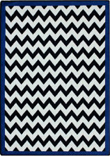 Milliken Black & White Area Rug Vibe Border Purple Bordered Chevron 7' 8 X 10' 9 Rectangle