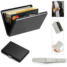 Credit Card ID Holder Slim Money Travel Wallet Stainless Steel Box Case for Men
