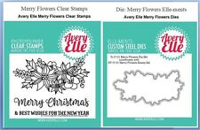 Avery Elle Photopolymer Clear Stamp & Die Combo ~ MERRY FLOWERS  ~ST/D-17-31