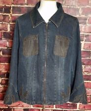 "Blue Jean Denim Woman's Flared Cuff Hippy Jacket Coat (No Tags) Est sz Large ""A"""