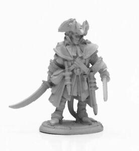 Reaper Miniatures Wicked Hand: Vax Kreel, Hellborn Pirate #04021 Unpainted