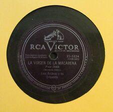LUIS ARCARAZ Y SU ORQ / LA VIRGEN DE LA MACARENA / MARIA ELENA / 78 RPM RECORD