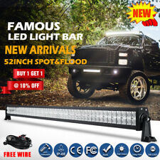 "52inch PHILIPS LED Light Bar Spot Flood Combo Offroad Driving Truck 4WD 50"" 52"""
