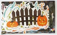Imaginese Halloween Pumpkins Fence Crows Icons SEE PICTURES Die Cuts