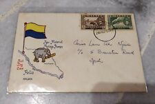 Malaya New Pictorial Private FDC Perlis Cover 2v Pahang Stamp elephant design