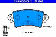 Bremsbelagsatz, Scheibenbremse für Bremsanlage Hinterachse ATE 13.0460-3806.2