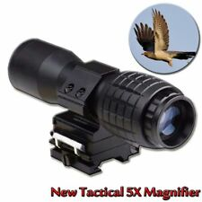 Tactical 5X Magnifier FTS Flip To Side For Eotech Aimopint Similar Scopes U New