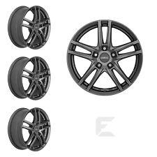 4x 15 Zoll Alufelgen für Fiat 500 + Cabrio / Dezent TZ graphite (B-8402389)