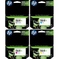 4-Pack Genuine HP 564 XL Color Photo C M Y Ink Cartridges Photosmart B8550