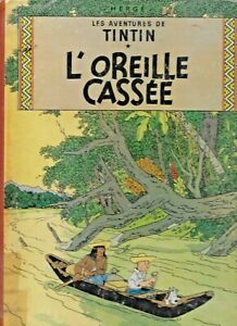 """TinTin 1947 L""""Oreille Cassee Herge Les Aventures Hardcover French Comics Round"""