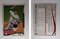 Ubaldo Jimenez Signed 2014 Topps #216 Card Cleveland Indians Auto Autograph