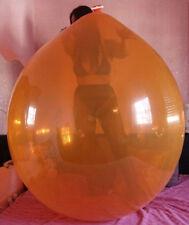 "2x 45""-50"" Riesenballons KRISTALL ORNG+KLAR extrem-belastbar, Party-Spass-Looner"