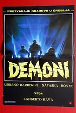 DEMONS HORROR LAMBERTO BAVA 1985 RARE EXYU MOVIE POSTER
