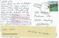 2014 Thailand #2701f on Post Card,Ao Nang to Germany;Missent to Taipei (Roc) *d