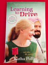 Learning to Drive Katha Pollitt PB Movie tie in Ben Kingsley Patricia Clarkson