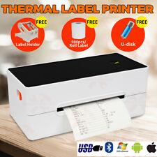 203dpi Thermal Label Printer With 500pcs Labels & Holder USB Bluetooth Oz