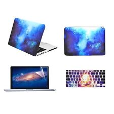 "BLUE Galaxy Graphic Case for Macbook Pro 13"" w. Retina + Keyboard Skin +LCD +Bag"