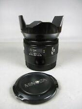 Minolta 28mm f2 Maxxum Lens **EX-**