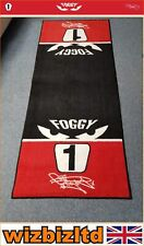 OFFICIAL LICENSED CARL FOGARTY GARAGE MAT - 190X80CM - FOGGY EYES - FOGMAT01