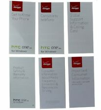 HTC One M8 Verizon Manual/Consumer and Product Safety Info Pack 6995