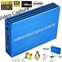 4K HDMI to USB 3.0 Video Capture Card Dongle 1080P 60fps FHD HDMI Video Recorder