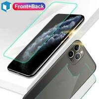 For iPhone 11/11 Pro/ Max Front and Back 9H Tempered Glass Screen Protector Film