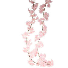 Artificial Silk Blossom Garland Spring Summer Flowers Pink Ivory 210cm