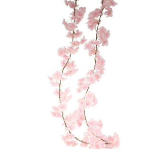Artificial Silk Blossom Garland Spring Summer Flowers Pink Ivory 210cm
