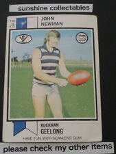 1974 SCANLENS CARD NO.130 JOHN NEWMAN GEELONG GOOD