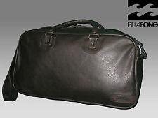BILLABONG Leather Look Weekend Holdall Duffel Bag Dark Brown Faux Leather
