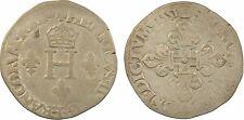 Henri II, sol parisis ou demi-gros de Nesle, 1551 Paris, argent - 76