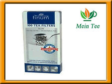 1x 100 unidades teefilter Finum slim papel filtro con lengüeta-colador de té