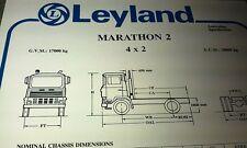 1980 LEYLAND MARATHON 2 - 4x2  Truck  Australian Spec Sheet