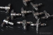 10 T Verbindungsstücke 5mm Luft Verbinder Schlauchverbinder Verteiler Wasser