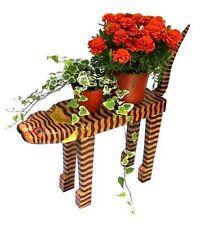 KATZE PFLANZENBANK Holzständer Blumenständer Blumenbank Holzkatze Dekokatze