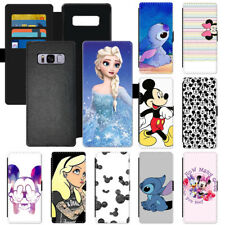 Popular Disney Cartoon PU Leather Wallet Phone Case Cover For Apple LG Samsung