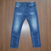 Diesel Buster Regular Slim-Tapered Stretch Mens Blue Jeans sz W34 L30