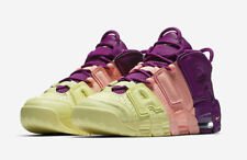 "New Kids Air More Uptempo ""Lucky Charms"" Av8237-800 Yellow Pink Purple Sz 6.5 Y"