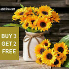 7 Heads Artificial Sunflowers Fake Flower Bouquet Garden Party Home Decoration X