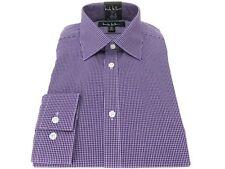 c8869308 Nicole Miller Modern Fit Dress Shirt Cotton Blend Mini Violet Check 15 1/2  34