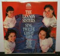 THE LENNON SISTERS SING TWELVE GREAT HITS (VG+) DLP-3292 LP VINYL RECORD