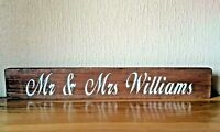Top Table Wedding Sign Large Rustic Wooden Personalised Venue Table Decoration