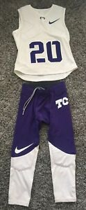 Team Issued New Nike TCU Horned Frogs Padded THUD Football Jersey #20 & Pants M
