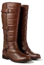 Redfoot Twin-Zip UK 4 Brown Leather Knee High Zippyboot Riding / Biker Boots
