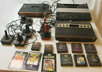 Lot 3 Consoles Atari 5200 CX-2600 Sears Telegames With Games Controllers