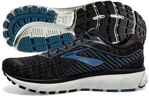 Brooks Ghost 12 Mens Shoe Black/Grey/Stellar multiple sizes New In Box