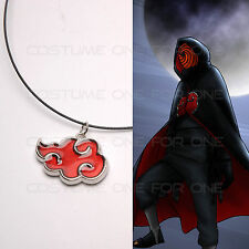 Naruto Itachi Sasuke Madara Red Cloud Konoha Ninja Cosplay Metal Necklace Gift
