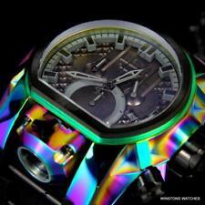 Invicta Bolt Zeus Magnum Iridescent 52mm Black Dual Swiss Movt Chrono Watch New