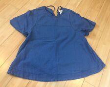 Designer JCREW Womens Denim Top Shirt Blouse Classic Size XS 0