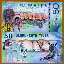 Australia, Uluṟu-Kata Tjuṯa National Park, 50 dollars, Polymer, 2018 > Kangaroo